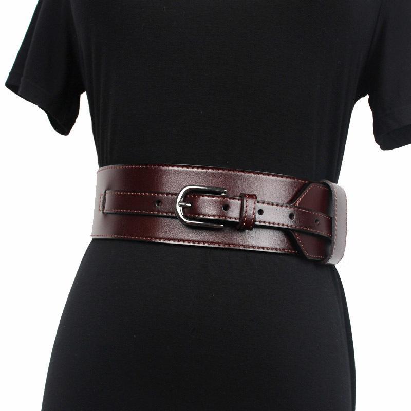 Nouveau designeur Women Women Brown Brown Women Cuir Bande Harnais Courroies pour femmes de la marque deign de luxe de la marque 210326