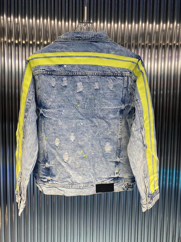 رجل مصمم سترة دافئة عارضة الرجال الدنيم الجملة كلاسيكي مخطط جاكيتات عالية الجودة معطف الشارع بيع الفاخرة الهيب هوب streetwear العلامة التجارية الشهيرة اليورو الإصدار M-XL