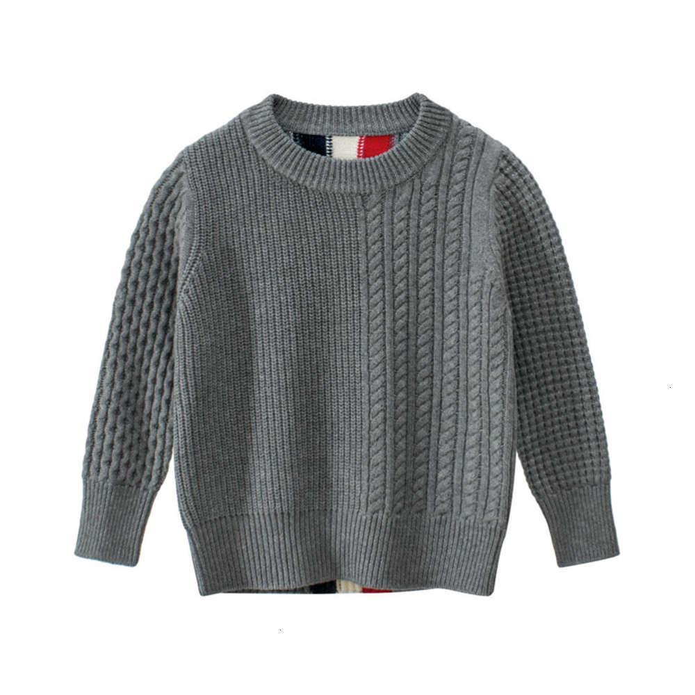 Cardigan Invierno Coreano y desgaste de los niños Autumn Cuello redondo Baby Twist Suéter de punto 7QZM