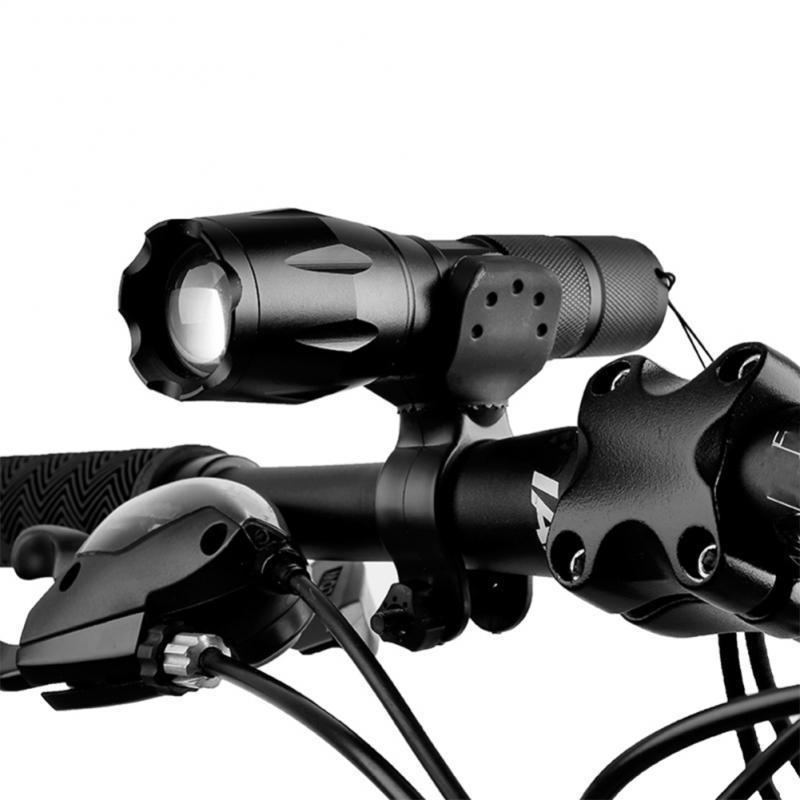 Bike Lights 1PC Bicycle Light Bracket LED Torch Mount Holder 360 Rotation Night Safety Anti Skid Lamp Clip