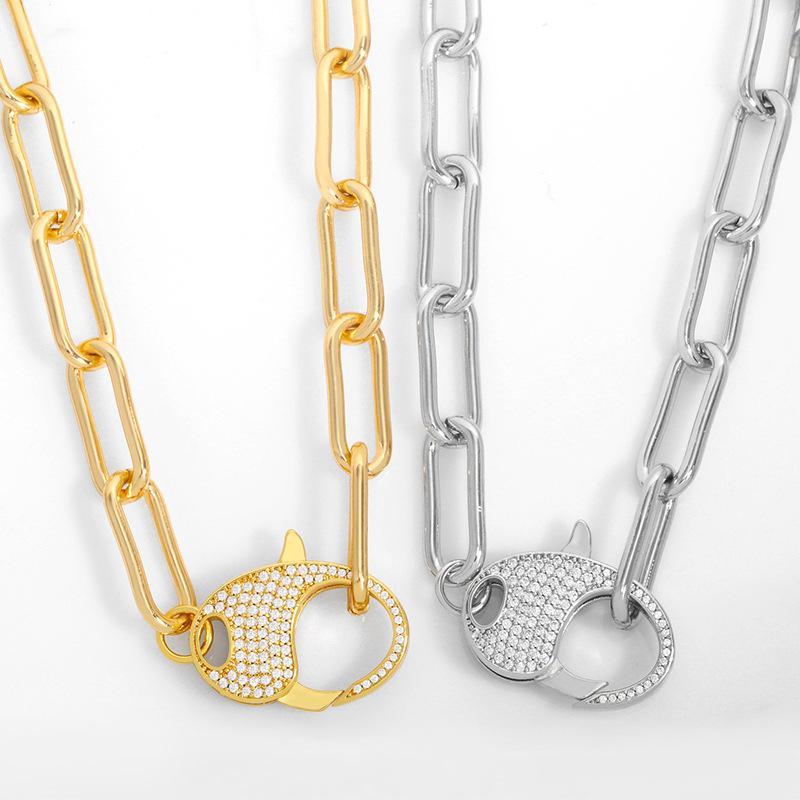 디자이너 새로운 두꺼운 힙합 목걸이 패션 다용도 쇄골 초커 목 체인 여성 NKT28