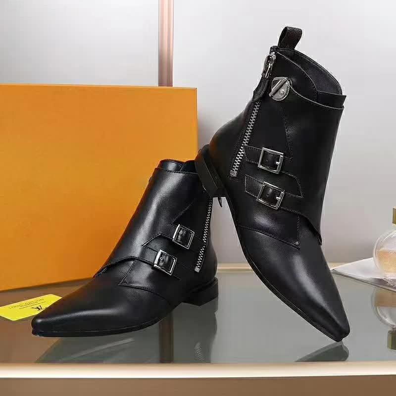 Дизайнер роскошь сексуальная мода заостренные ботинки кожаные сапоги толстые высокие каблуки роскошный дизайн на шнуровке платформы обувь кожаные дамы размером 35-42 с коробкой