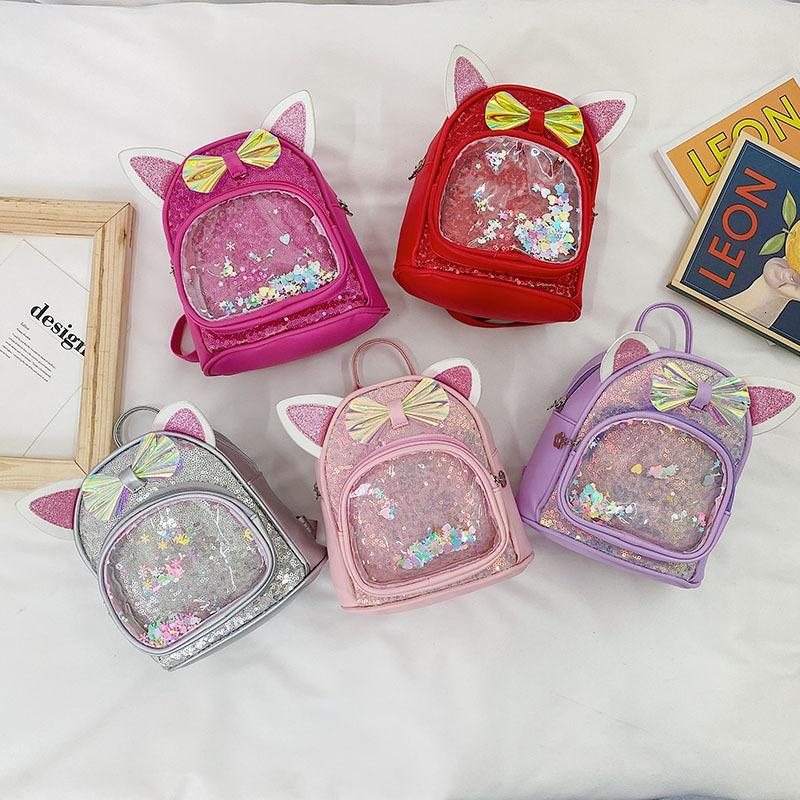 Bolsas de la escuela2021 Bolso para niños Bow Fashion Pu Chicas Bapa Ocio Princesa