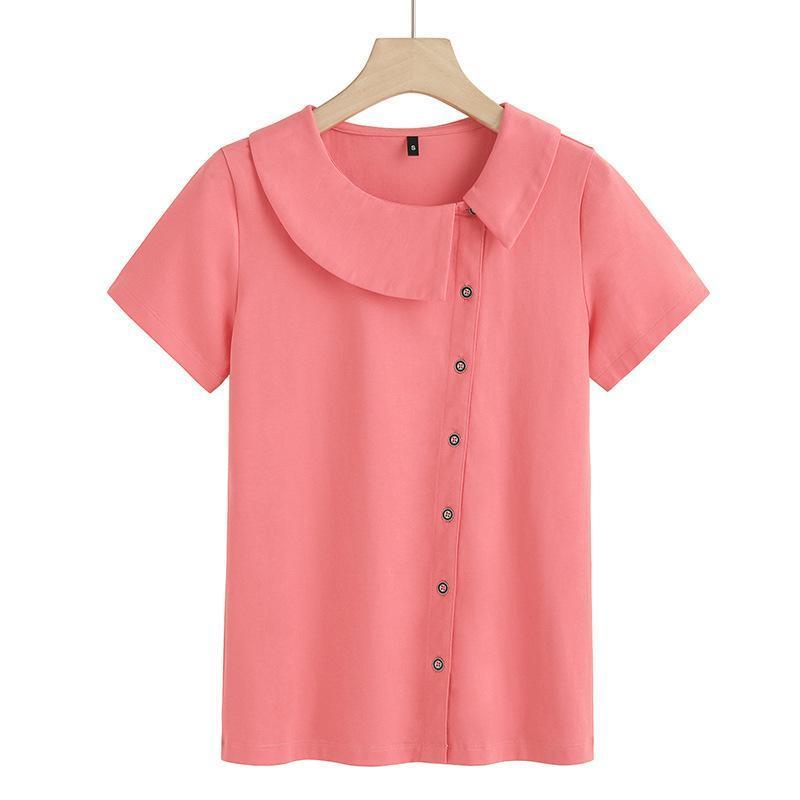 BAVEOUNG Manga corta camisetas Mujeres diseñador Estilo de verano O-cuello Algodón Tops delgados para el remiendo T Camiseta de la camiseta Femme Camiseta de las mujeres