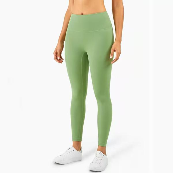 Fitness Wear Outfit de yoga athlétique Pantalon solide Femmes Tenues filles Taille haute Vêtements de plein air exécutant Lu Lady Sports Full Leggings Full Ledies Workout Z4un #