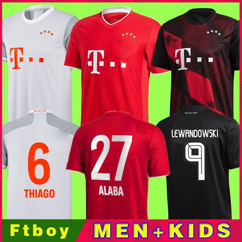 Jersey de futebol 20 21 Lewandowski Sane Munique Coman Muller Davies Camisa de Futebol Homens Kit Kids 2020 2021 HumanRace Quarto 4º
