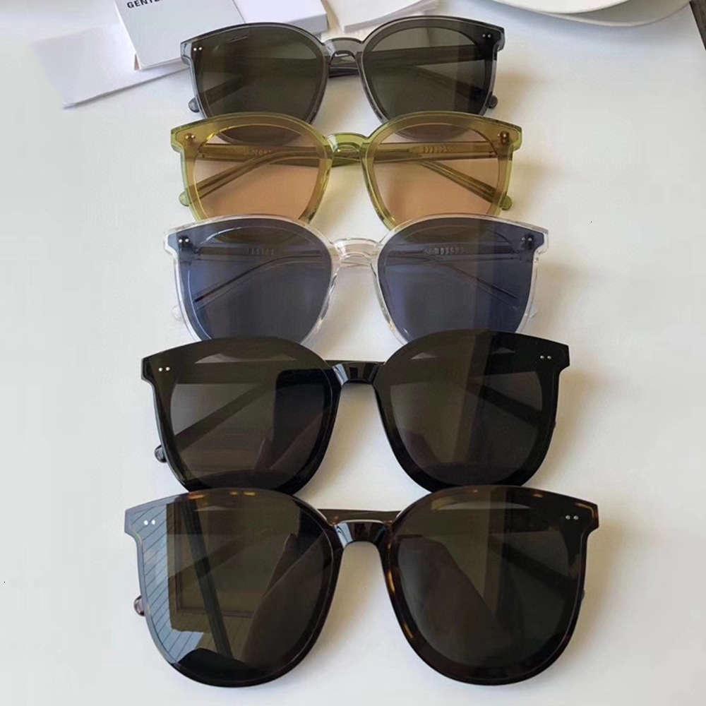 O novo gentil coreano digna sunglass com o mesmo estilo para homens e mulheres moda redonda acetato quadrado rosto vidro5srt