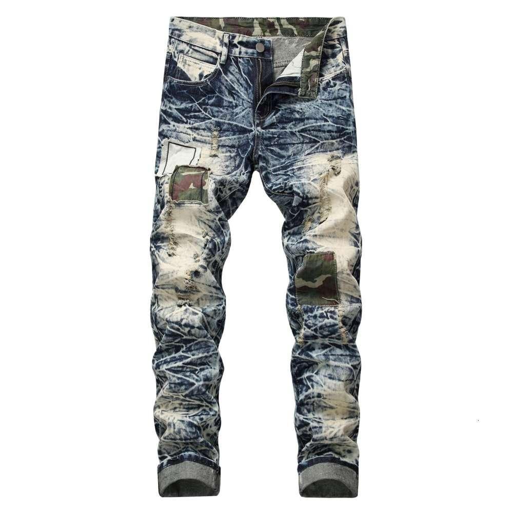 Fashion Designer Mens Jeans Slim Motorcycle Biker Causal Mens Denim Pants Hip Hop Men's Distressed Skinny Jeans
