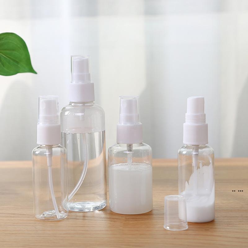 Бутылка спрей 3oz 2oz 1oz Travel Plastic Plasted пустой косметический парфюмерный контейнер с туманными соплами Бутылки распылитель парфюмерии образец флаконов EWF8333