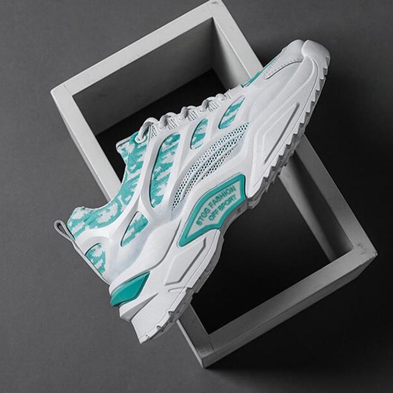أحذية الأزياء أحذية رياضية منتصف منخفضة الرجال والنساء الجري TRAIR وسادة تنفس الرياضة