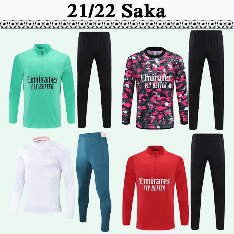 2021 2022 Tierney Saka Willian Soccer Shirts Treinamento Terno Futebol Jerseys Adulto Maitland-Niles Thomas Pepe Mens Kit de Manga Longa