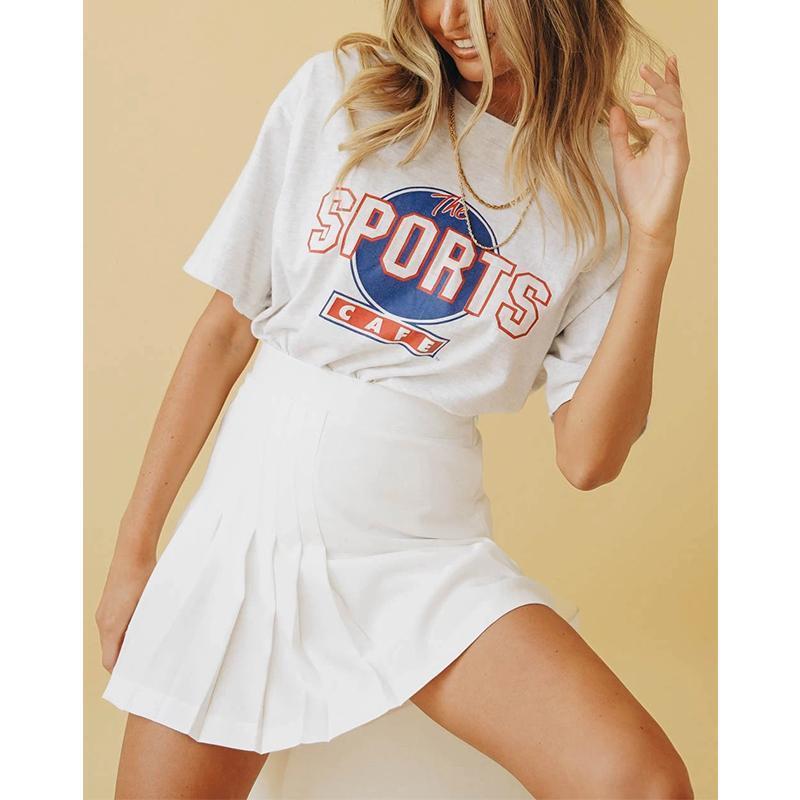 Mini jupe pour adolescents Vêtements pour femmes 2021 Spring Summer School Uniformes Patinage Tennis Jupes plissées à taille haute Haut-taille