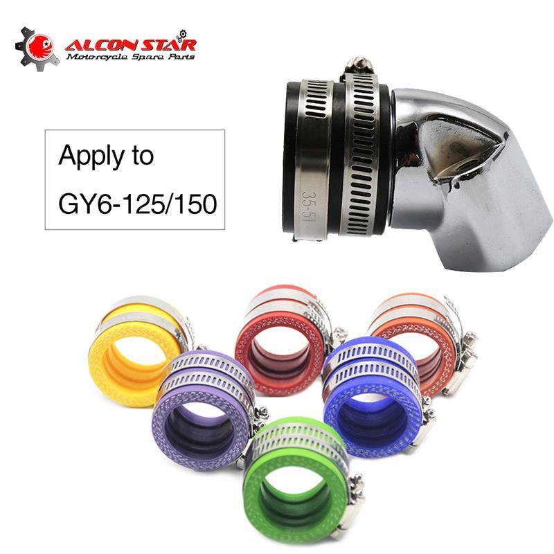Alconstar Aluminum 35mm Carburetor Intake Pipe Adapter Manifold Interface Boot For GY6 125cc 150cc Engine Scooter Motorcycle Fuel System