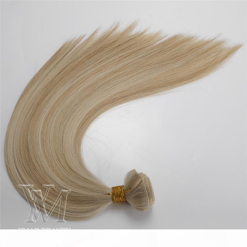 Vmae Indien russe 12a non transformé P # 6 # 8 p # 60 # 27 cheveux de trame double dessinés 3 paquets de lot de soie droite vierge douce Remy Remy