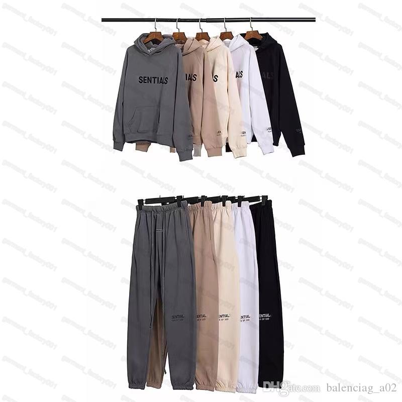 Mens Designer fear of god essentials suits Tracksuit sportswear luxury high quality summer pa ow hoodies pants Jogger suit male clothing fog