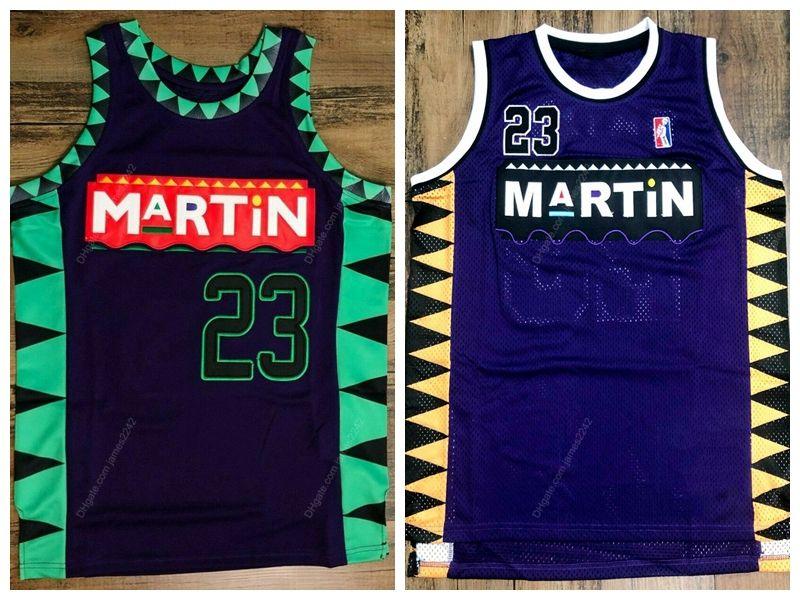 Martin Payne TV Show Marty Mar # 23 Basketball Jersey Männer genäht Lila Größe S-XXL Top Qualität Trikots