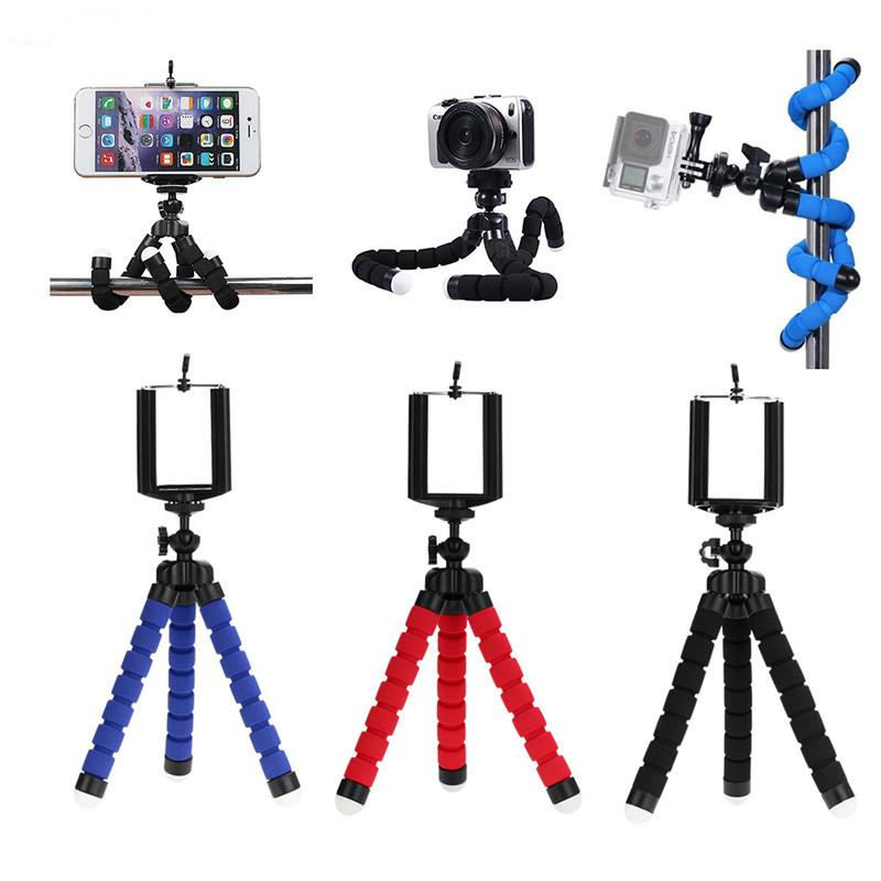 3 كول حامل ترايبود مرنة للهاتف الخليوي سيارة كاميرا عالمية البسيطة الأخطبوط الإسفنج حامل القوس selfie monopod جبل مع كليب من دي إتش إل