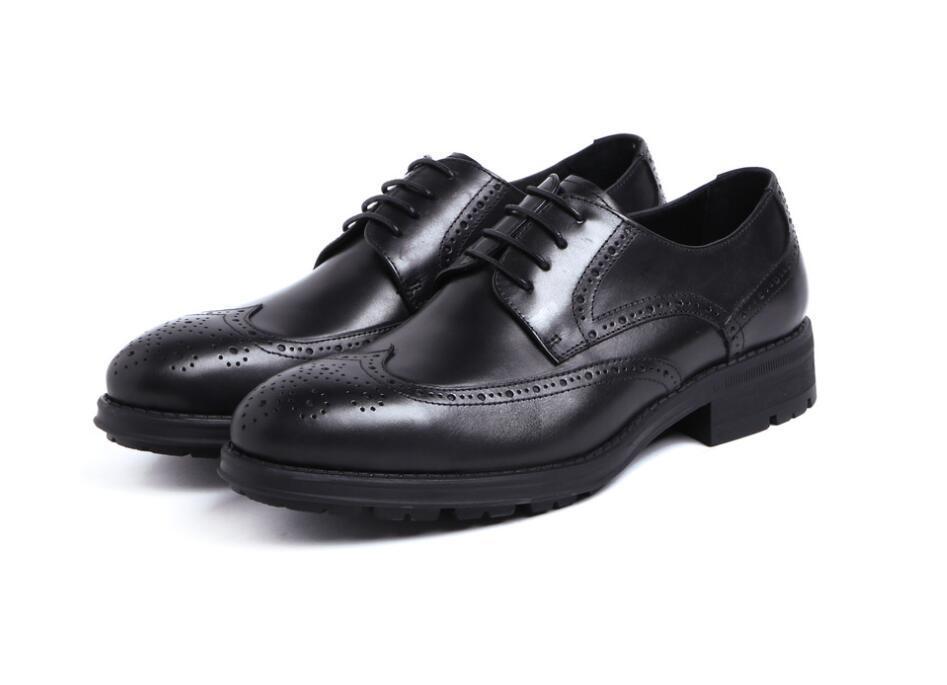 2020 mavi kahverengi kırmızı inek derisi erkekler ayakkabı iş elbisesi stil yuvarlak ayak yumuşak taban inek derisi düğün moda ayakkabı oxfords homme
