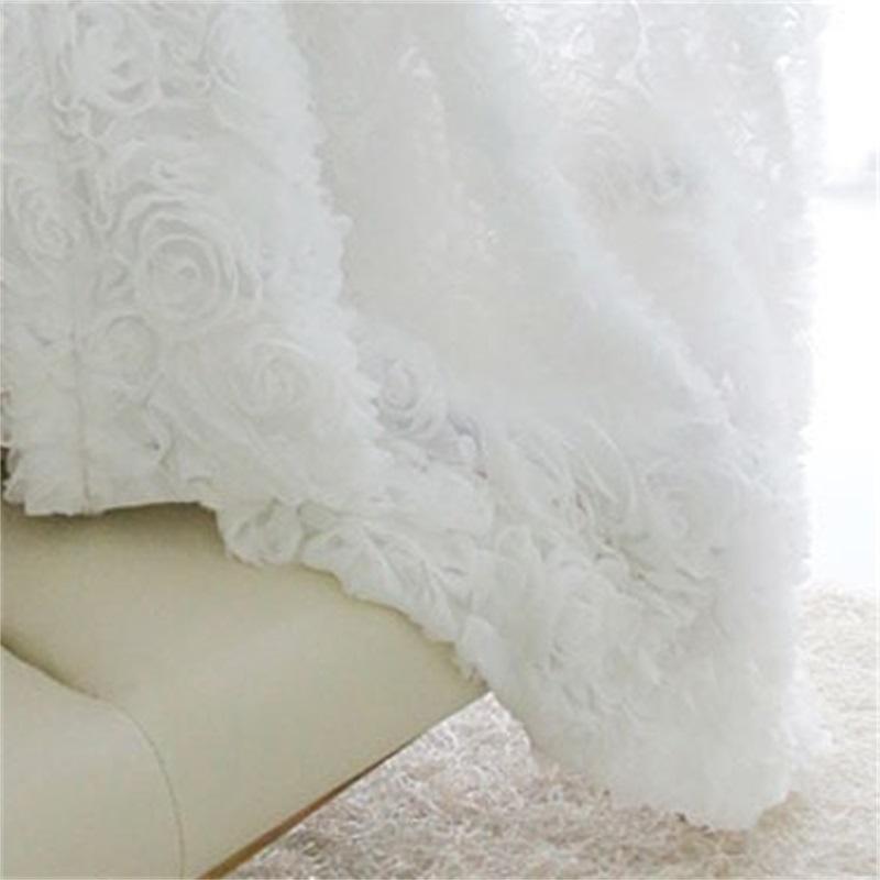 Korean Princess Style white rose Window Blackout Curtains For Living room girls Bedding room Drapes Cotinas para sala decorative 327 R2