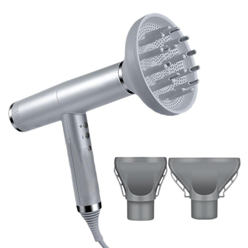 Brosses de cheveux électriques Souffleur 3 en 1 ions négatifs professionnels Sèche-linge puissant vent / froid avec fonction mémoire