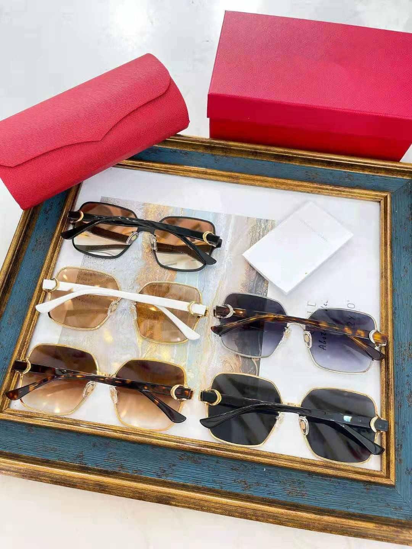 Designer Sunglasses Men Eyeglasses Outdoor Shades Alloy Frame Fashion Classic Lady Sun glasses Mirrors for Women friend stlyle grass box