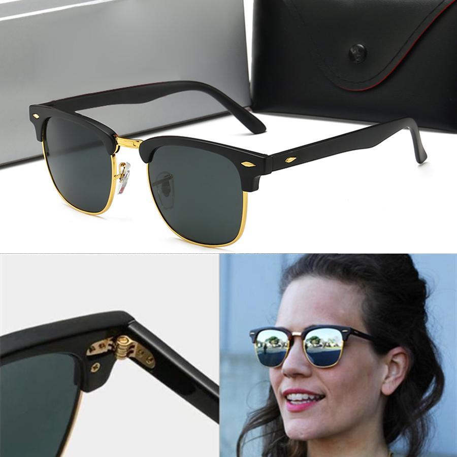 Luxus 2021 Marke Polarisierte Männer Frauen Herren Womens Pilot Aviator Sonnenbrille Designer UV400 Eyewear Sonnenbrille Metallrahmen Polaroidobjektiv