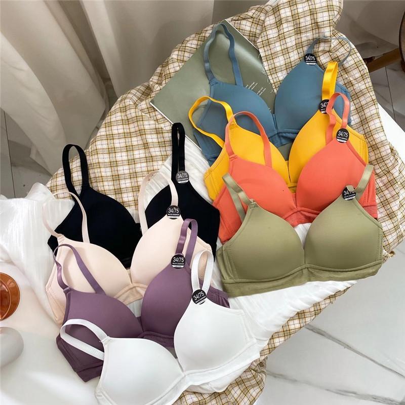 Novo Instalado Sendi Tradicional Four Seasons General Coletando Bra Liso, Confortável e Simples Girl's Underwear6nz3
