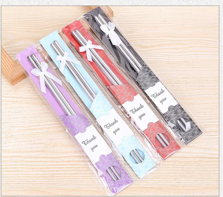 240pairs Stainless-Steel metal Chopsticks wedding Gifts for business birthday Home Tableware gift Wholesale