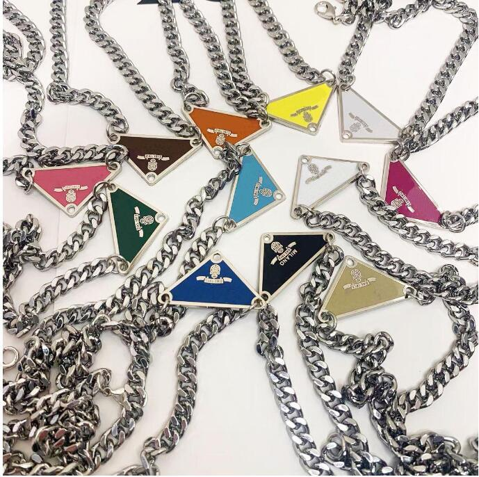 48cm luxurys Sale Pendant Necklaces Fashion For Man Woman Inverted Triangle Designers Brand Jewelry Mens Womens Highly Quality With Box