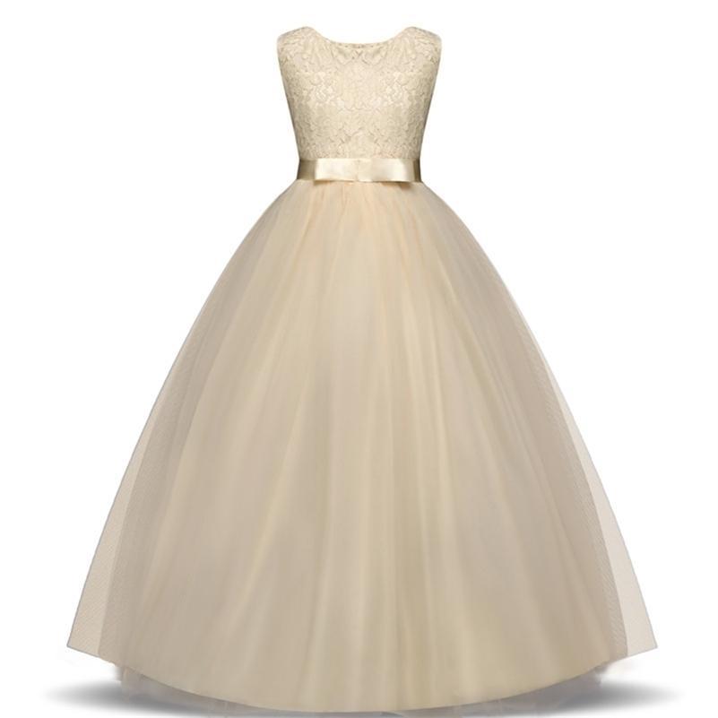 Lace Girl Vestido para Casamento Girl Party Wear Plus Size Lady Lady Noite Navio Adolescente Adolescente Criança Roupas Infantil Roupas 210319
