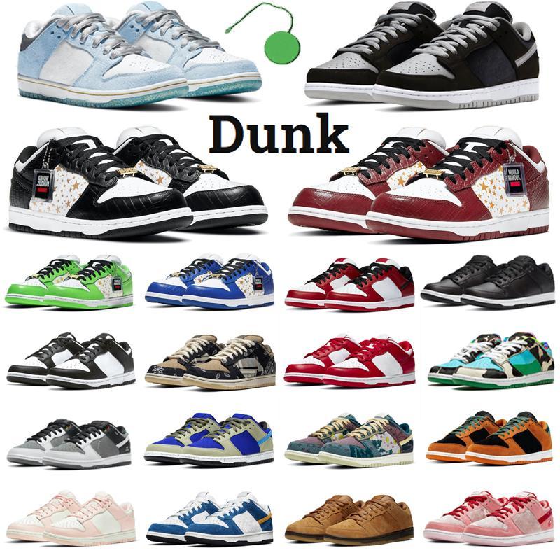 2021 Dunk Baja Sombra Hombres Mujeres Running Shoes Sean Cliver Chunky Dunky Laser Orange Comunidad Jardín Mens Entrenadores Deportes Zapatillas deportivas