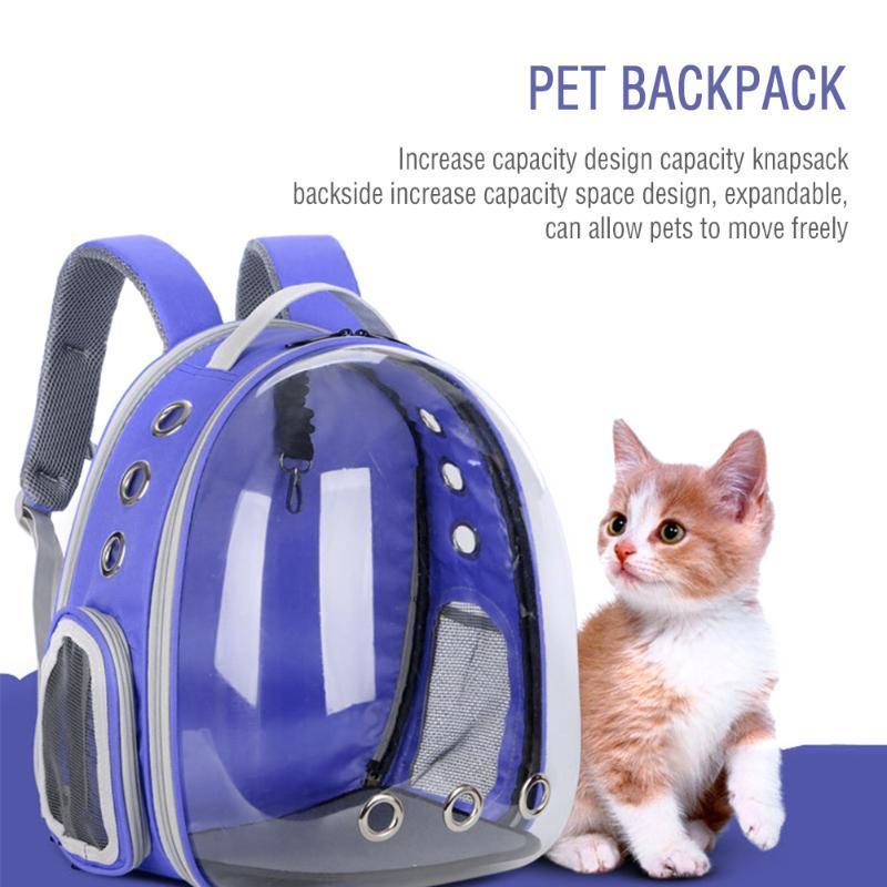 PET PET حقيبة الظهر طوي متعدد الوظائف الكلب الناقل حقيبة كبيرة الفضاء فقاعة الكتف خيمة حاملات قفص، صناديق المنازل