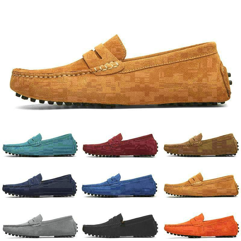 N ° # 1511399 Jeunes pour hommes de rabais sur daim décontracté Chaussures de daim rouge gris rouge Brown Homme Cuir 40-44 Mode En plein air China Factory Couleur 551462