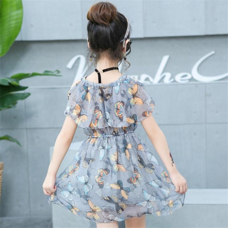 2022 여자를위한 여름 드레스 패션 꽃 여자 드레스 캐주얼 스타일 십대 소녀 의상 키즈 투투 드레스 5 6 7 8 9 10 12 년