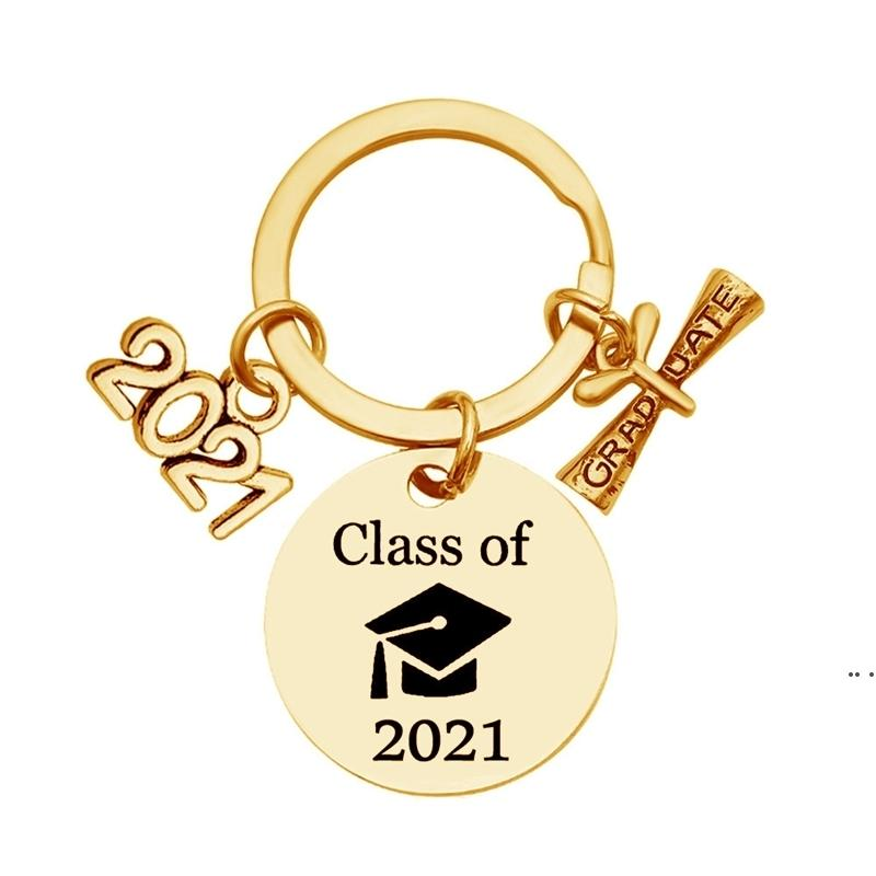Lisansüstü Anahtarlık Sınıf 2021 Okul Üniversitesi Öğrenci Mezuniyet Hediye Paslanmaz Çelik Anahtarlık Kaydırma Takı Anahtarlık HWF5843 ile