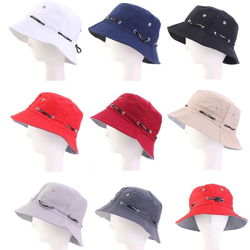Летняя пружинная шляпа ведра на открытом воздухе защита от солнца Casquette Unisex складные солнцезащитные крены шляпы для женщин мужчины путешествия рыбацкие колпачки широкий краев