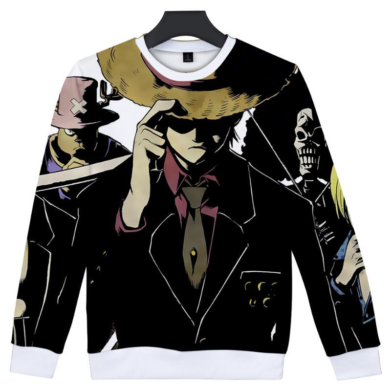 Mode 3D einteiliger Sweatshirt Männer / Frauen Anime Capless Hoodies Print Herren Herbst Streetwear Langarm Damen Sweatshirts