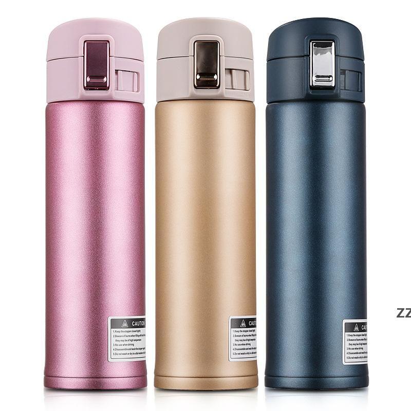 304 Frascos de vacío de acero inoxidable Tazas de rebote Coche portátil Botellas de agua de negocios 500ml Moda Bounce Bottle por mar Hwe9896