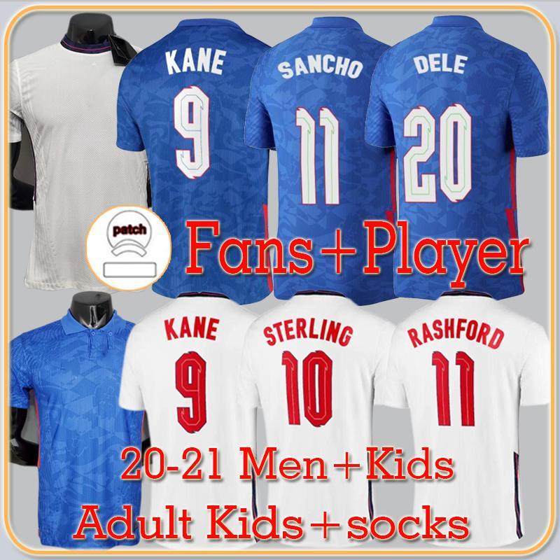Van Edition لاعب نسخة سانشو كين المملكة المتحدة لكرة القدم جيرسي 2022 الاسترليني راشفورد هندرسون باركلي ماجوير القمصان الوطنية لكرة القدم الرجال + Kids Kit مجموعات الزي الرسمي