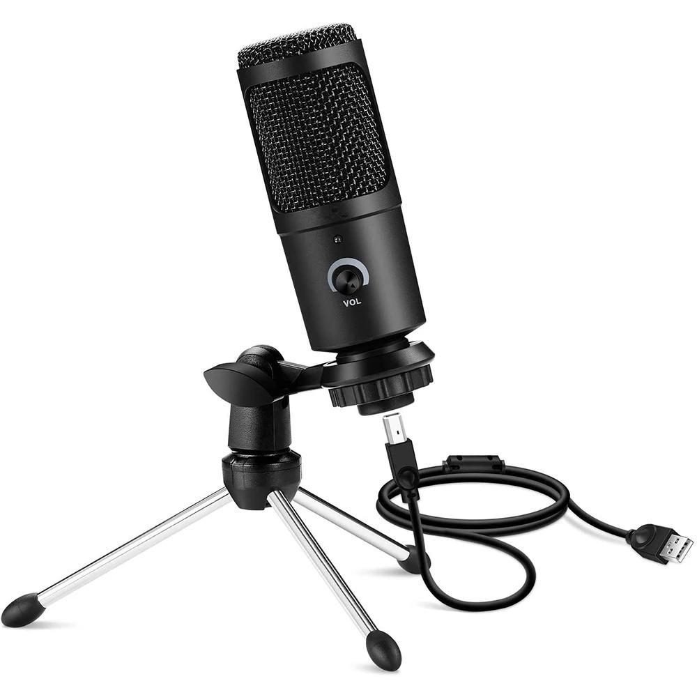 BM65 Kondenser Mikrofon PC Mikrofonlar Profesyonel Kayıt Micphone Karaoke Vokal Studio Bilgisayar Oyun Sohbet için Podcast