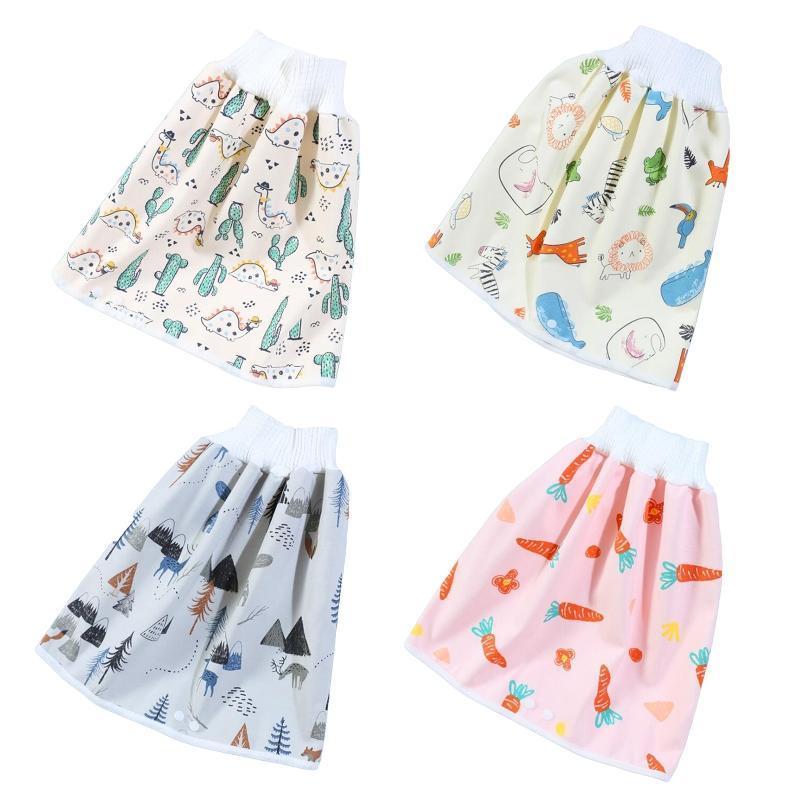 Dans 1 Enfants confortables Baby Diaper Jupe Short Coton Potty Training Pantalon Nappy Couches de tissu 97bc