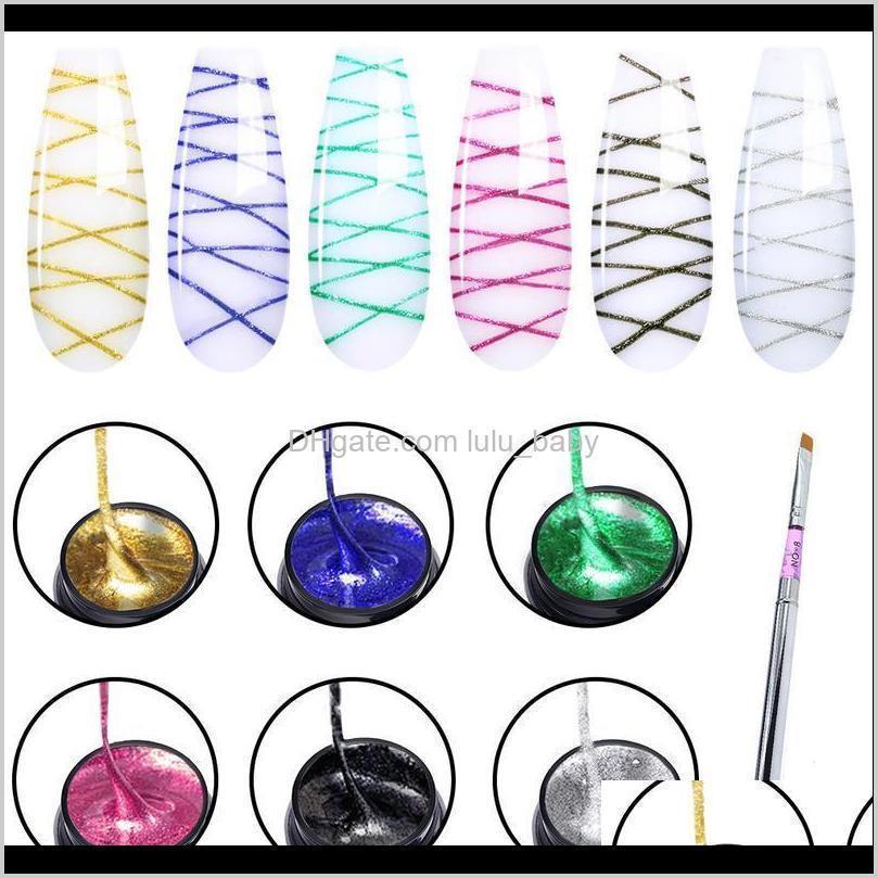 Elite99 5ml Dibujo de pintura Gel Polish Varniz Off Off Silk Silk Set for Manicure UV Wire Line IYY8U OWYB8