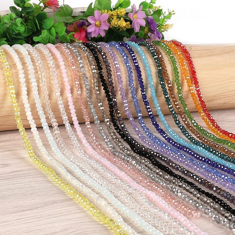 Multi Color 2mm 195pcs Bicone Austria Beads Crystal Cut Faceted Glass Glass Beads para la joyería que hace bricolaje Collar 1064 T2