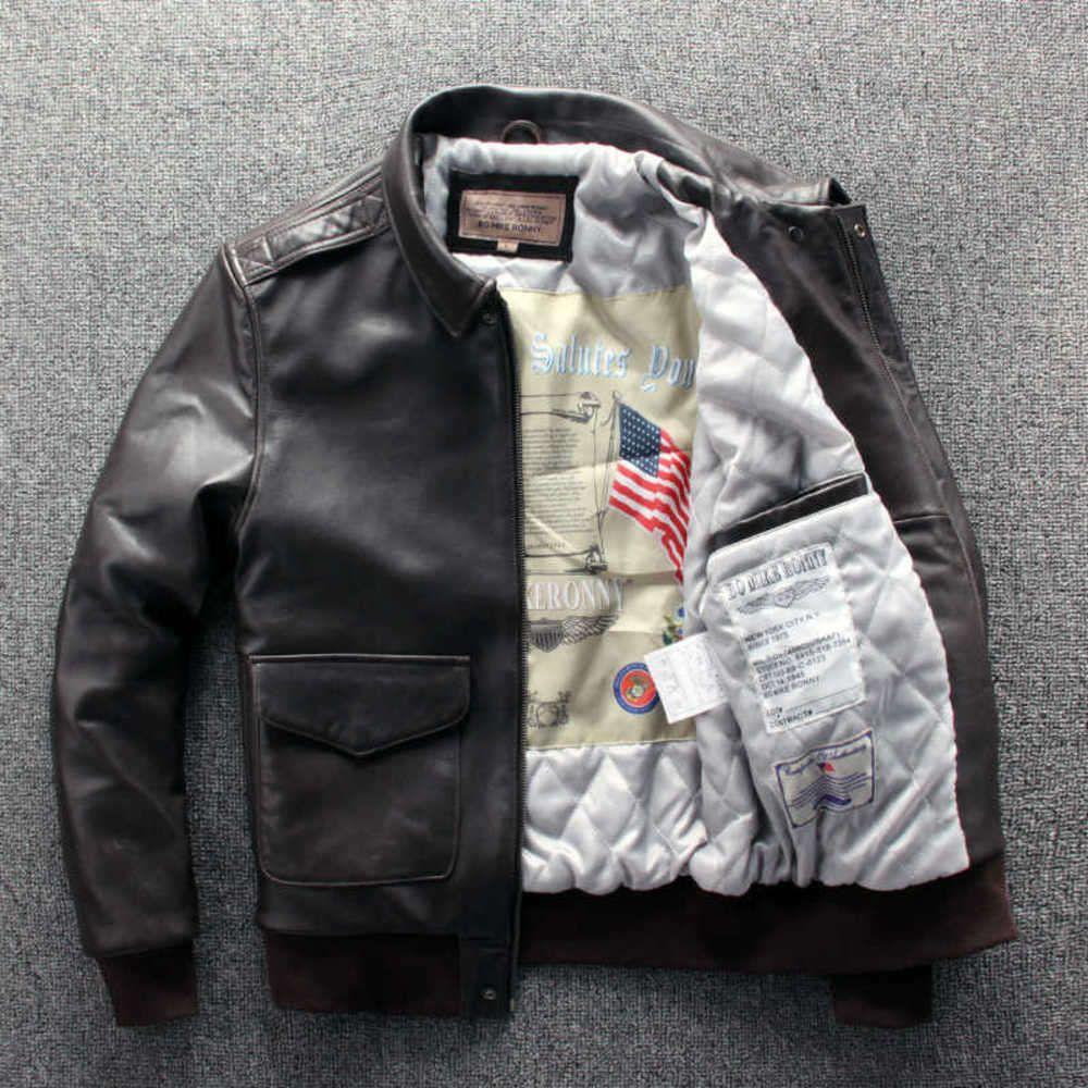 Veste courte en cuir de coton en cuir de coton en cuir pour hommes Nouvelle-Zélande Première couche Cuir de peau de mouton véritable