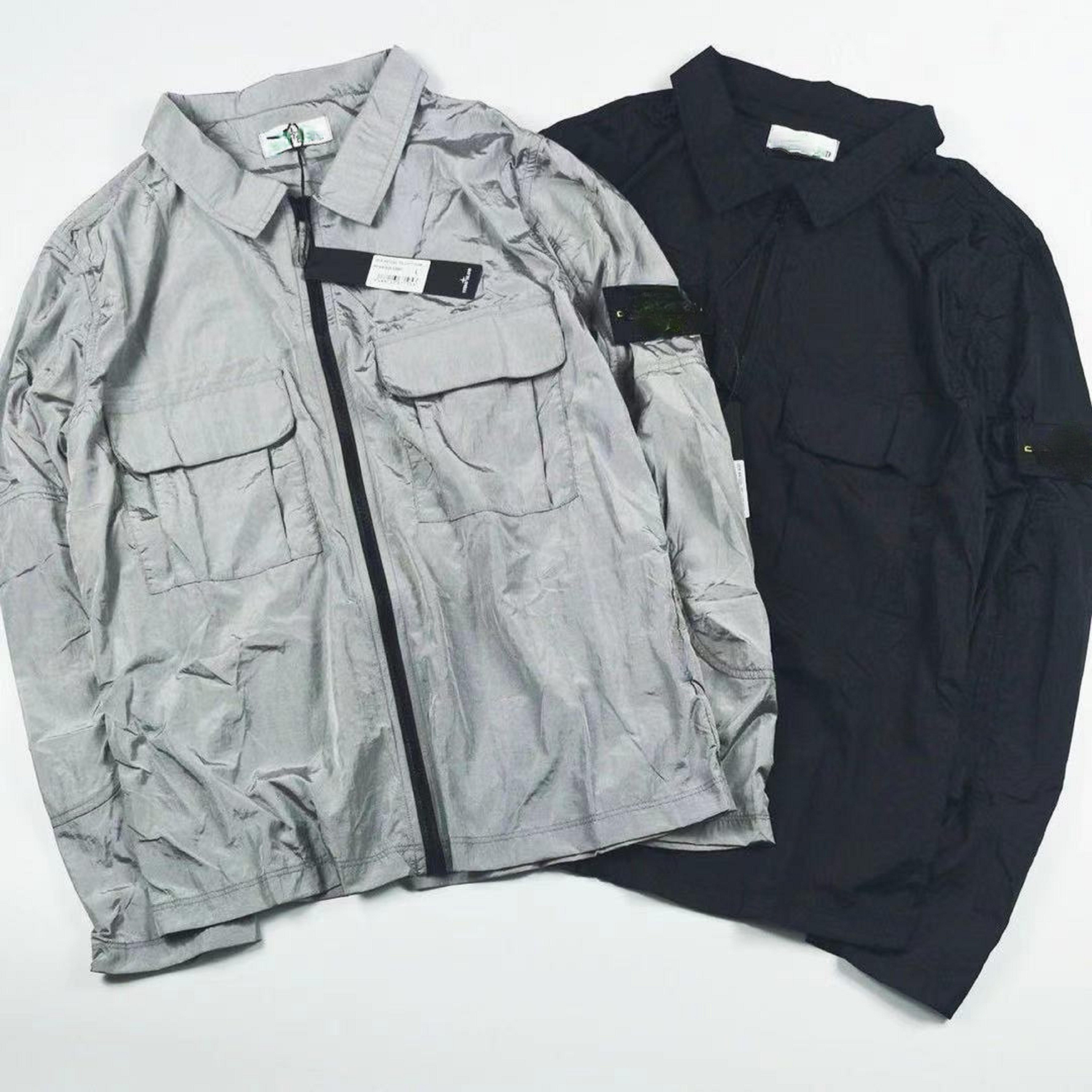2021 Yaz Erkek Ceket Rahat Moda Naylon Su Geçirmez Kumaş Slim Fit Rahat Nefes Erkekler Ve Kadınlar Aynı Boyutu M-2XL Tüm Maç Ceketler