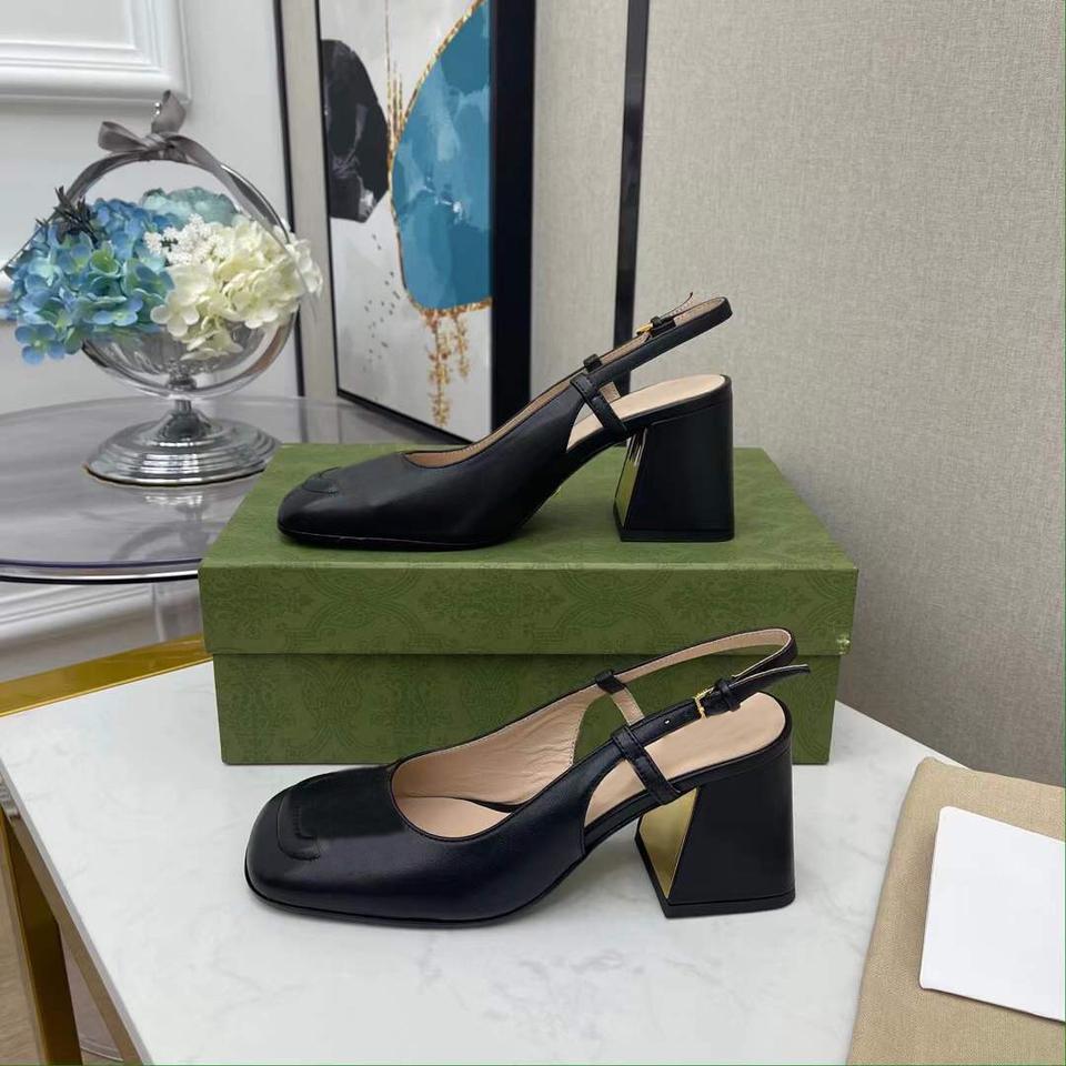 디자이너 드레스 신발 검은 럭셔리 chunky 힐 여성 디자이너 신발 가죽 웨딩 기어 파티 도매 도매