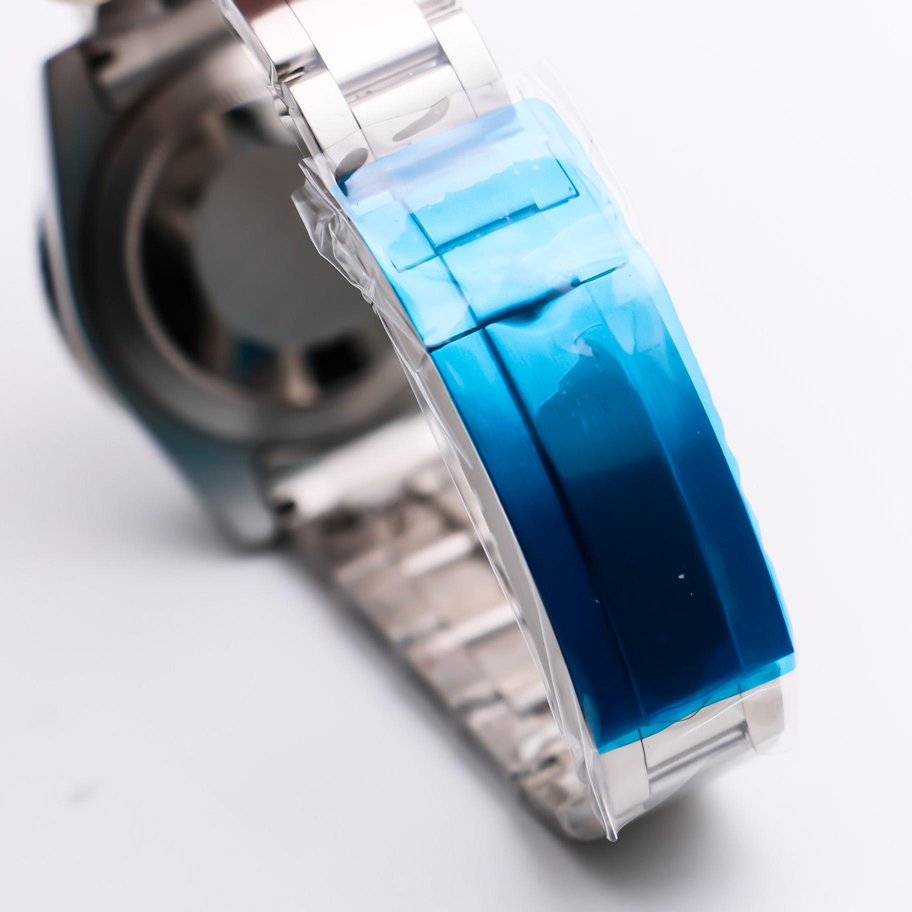 GD2813 relógio automático Sub grande Data de Ouro Branco Data Preto 40mm Marca Limitada Mens de Pulso Pulso De Pulso De Cerâmica De Aço Inoxidável Homens Markers Oyster Pulseira 116610