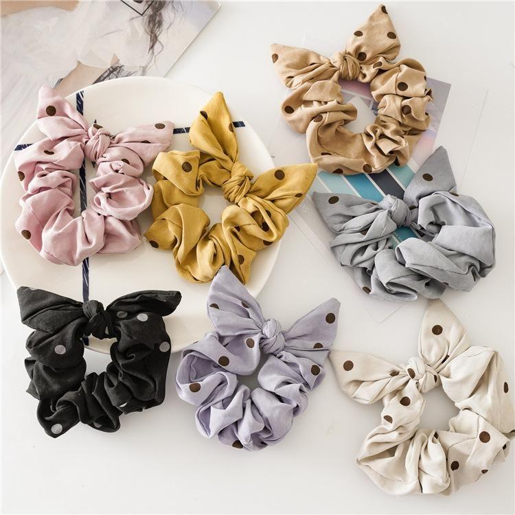 Япония и Южная Корея навязные лук эластичные шпильки для волос ткань для волос ручной работы кольцо для волос резина
