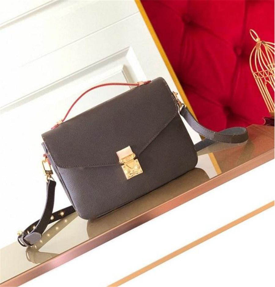 2021 Freies Shiping Umhängetaschen Frauen Echte Leder Kette Crossbody Tasche Handtaschen Kreis Geldbörse Hohe Qualität Weiblich