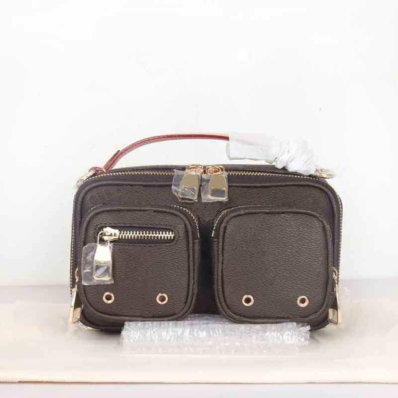 الأزياء حقيبة مصمم حقائب كاميرا crossbody عالية الجودة المرأة حقيبة يد سستة المحافظ كتف جيب واسعة حزام اليد مع مصغرة عملة محفظة M80446